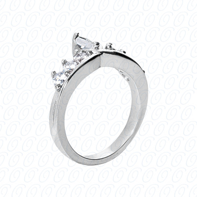 14KP Fancy Rings Cut Diamond Unique <br>Engagement Ring 0.62 CT. Fancy Rings Style