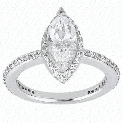 PLAT Marquise 0.46 CT. Halo