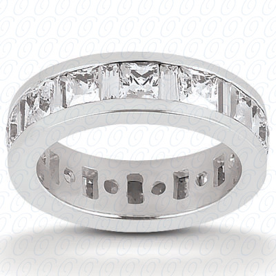 PLAT Combinations 2.10 CT. Eternity Wedding Bands