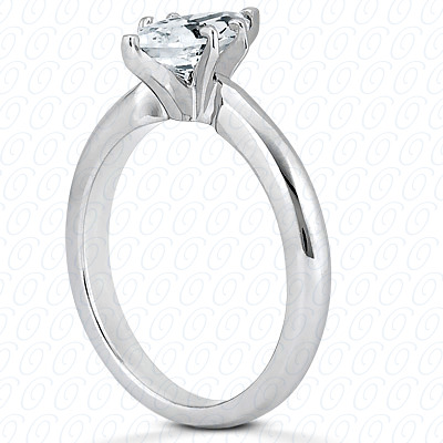 PLAT Marquise Cut Diamond Unique Engagement Ring