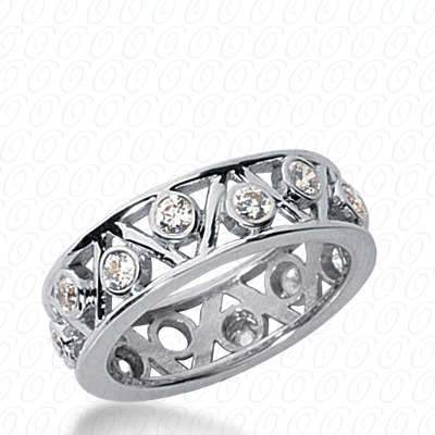 14KP  Round Cut Diamond Unique <br>Engagement Ring 0.60 CT. Eternity Wedding Bands Style