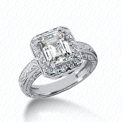 14KP Antique Cut Diamond Unique <br>Engagement Ring 0.18 CT. Engagement Rings Style