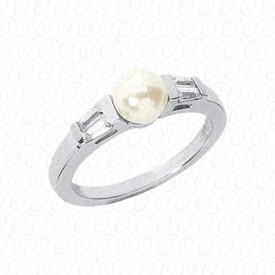 14KW Combination Cut Diamond Unique Engagement Ring 0.24 CT. Color Stone Rings Style