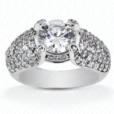 14KP Fancy Cut Diamond Unique <br>Engagement Ring 1.22 CT. Engagement Rings Style