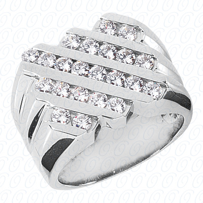 14KP Fancy Styles Cut Diamond Unique Engagement Ring 1.54 CT. Mens Rings Style