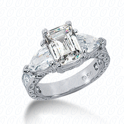14KP Antique Cut Diamond Unique <br>Engagement Ring 1.13 CT. Engagement Rings Style