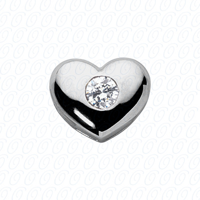 14KW Hearts Cut Diamond Unique Engagement Ring 0.72 CT. Pendants Style
