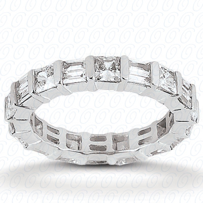 14KW Combinations Cut Diamond Unique Engagement Ring 2.32 CT. Eternity Wedding Bands Style