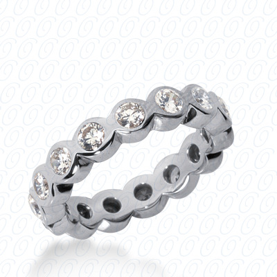 14KW  Round Cut Diamond Unique Engagement Ring 1.40 CT. Eternity Wedding Bands Style