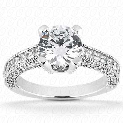 14KP Fancy Cut Diamond Unique <br>Engagement Ring 0.68 CT. Engagement Rings Style