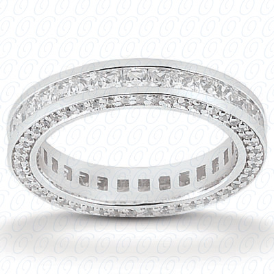 PLAT Combinations 1.92 CT. Eternity Wedding Bands