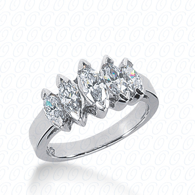14KP Marquise Cut Diamond Unique <br>Engagement Ring 1.74 CT. Wedding Bands Style
