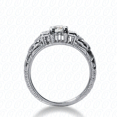 14KW Antique Cut Diamond Unique Engagement Ring 0.40 CT. Engagement Rings Style
