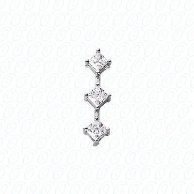 14KW Three Stones Cut Diamond Unique Engagement Ring 0.30 CT. Pendants Style