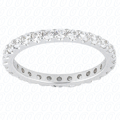 PLAT  Round 0.23 CT. Eternity Wedding Bands