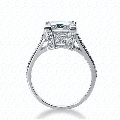 14KP Fancy Cut Diamond Unique <br>Engagement Ring 0.38 CT. Engagement Rings Style