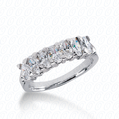 PLAT Oval 1.25 CT. Wedding Bands