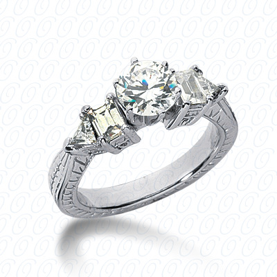 14KP Antique Cut Diamond Unique <br>Engagement Ring 0.70 CT. Engagement Rings Style