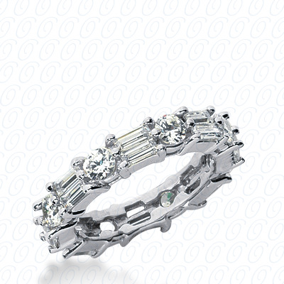 14KW Combinations Cut Diamond Unique Engagement Ring 2.96 CT. Eternity Wedding Bands Style