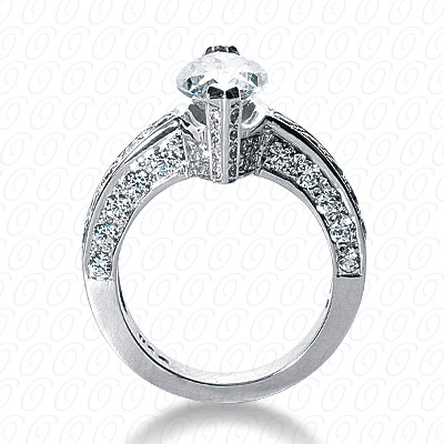 14KW Fancy Cut Diamond Unique Engagement Ring 1.18 CT. Engagement Rings Style