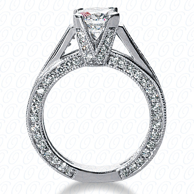 14KP Fancy Cut Diamond Unique <br>Engagement Ring 1.18 CT. Engagement Rings Style
