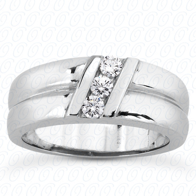 14KP Round Cut Diamond Unique <br>Engagement Ring 0.18 CT. Wedding Band Sets Style