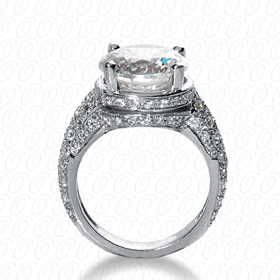 14KP Fancy Cut Diamond Unique <br>Engagement Ring 1.34 CT. Engagement Rings Style