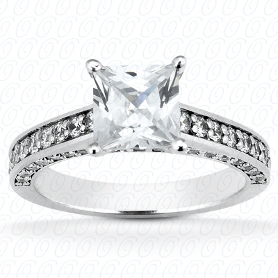 14KP Fancy Cut Diamond Unique <br>Engagement Ring 0.58 CT. Engagement Rings Style