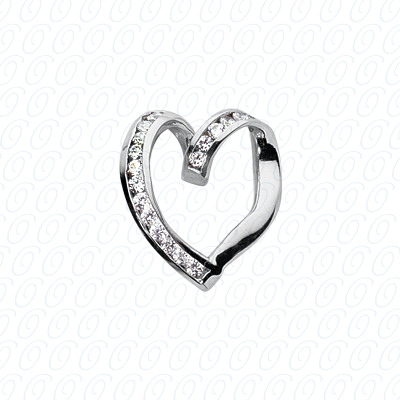 14KW Hearts Cut Diamond Unique Engagement Ring 0.24 CT. Pendants Style