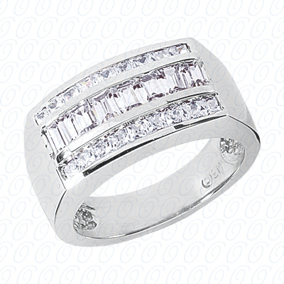 14KP Fancy Styles Cut Diamond Unique Engagement Ring 2.00 CT. Mens Rings Style
