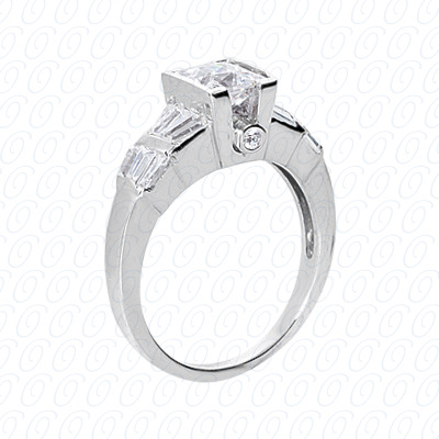 14KP Fancy Rings Cut Diamond Unique <br>Engagement Ring 0.82 CT. Fancy Rings Style