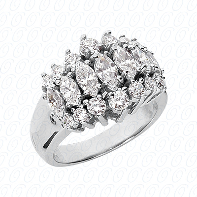 14KP Combination Cut Diamond Unique <br>Engagement Ring 2.27 CT. Color Stone Rings Style
