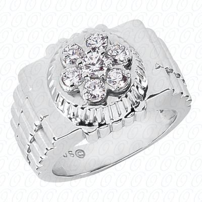 14KP Fancy Styles Cut Diamond Unique Engagement Ring 0.52 CT. Mens Rings Style