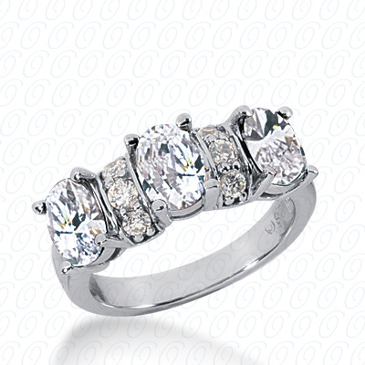 14KP Oval 0.24 CT. Wedding Bands