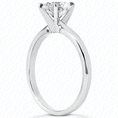18KP Round Cut Diamond Unique Engagement Ring