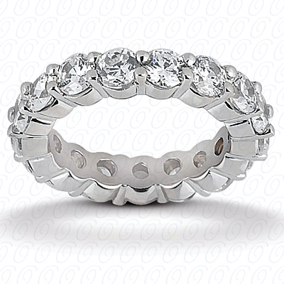 14KW  Round Cut Diamond Unique Engagement Ring 1.90 CT. Eternity Wedding Bands Style