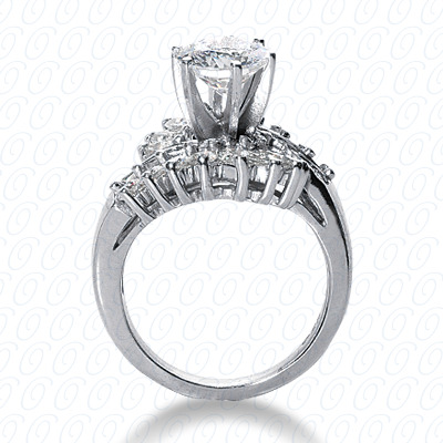 14KW Fancy Cut Diamond Unique Engagement Ring 1.62 CT. Engagement Rings Style