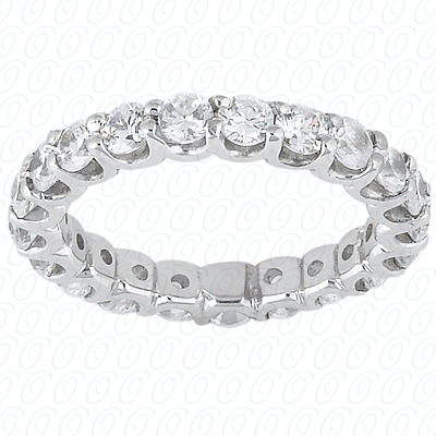 14KP  Round Cut Diamond Unique <br>Engagement Ring 1.90 CT. Eternity Wedding Bands Style