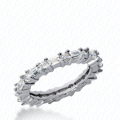 14KW Combinations Cut Diamond Unique Engagement Ring 1.54 CT. Eternity Wedding Bands Style