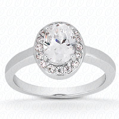 14KP Oval 0.12 CT. Halo