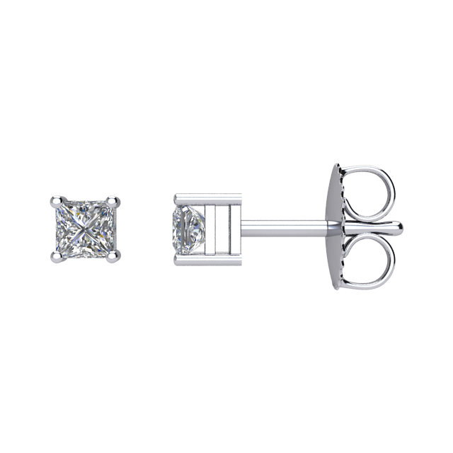 14kt White 1/4CTW Diamond Earrings