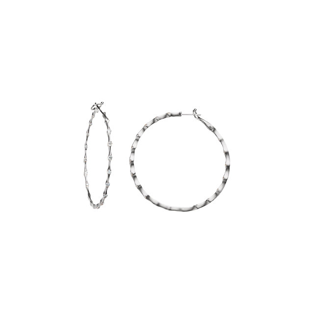 1 1/5 CTW Diamond Inside/Outside Hoop Earrings