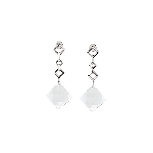 White Quartz Earrings