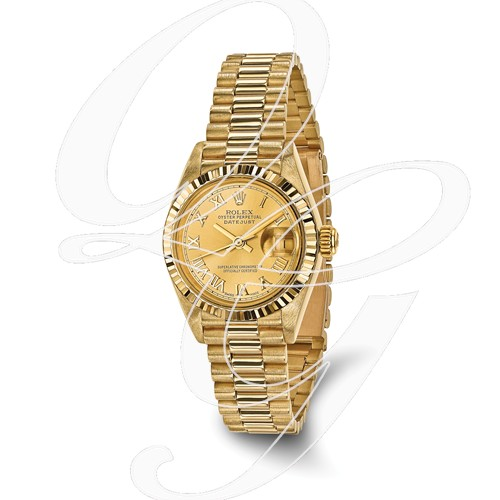 Certified Pre-owned Rolex 18ky Ladies Datejust Presidential Watch