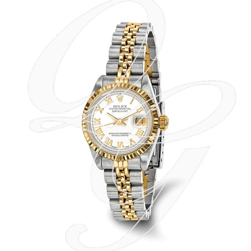 Certified Pre-owned Rolex Steel/18ky Ladies White Dial Watch