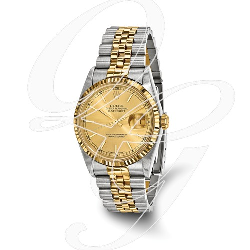 Certified Pre-owned Rolex Steel/18ky Mens Champagne Dial Watch