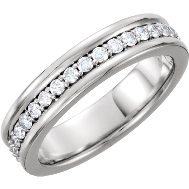 Comfort-Fit Eternity Duo Band