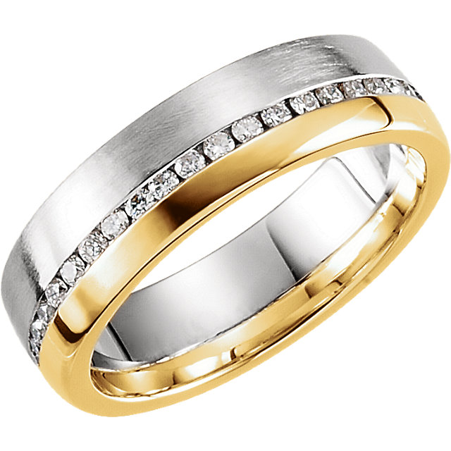 Comfort-Fit Duo Two-Tone Band