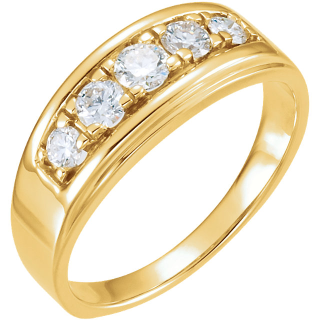 14kt Yellow 3/4 CTW Diamond Ring