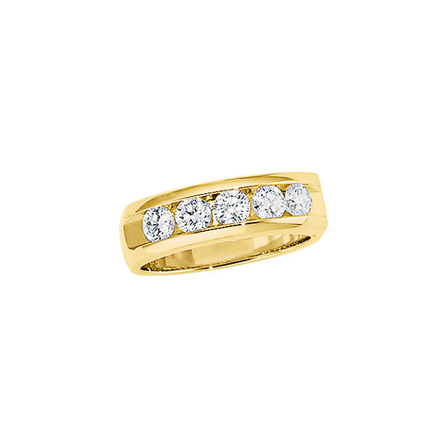 Men'S 5-Stone Diamond Ring